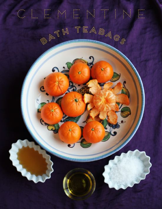 Clementine Bath Tea Bags 1